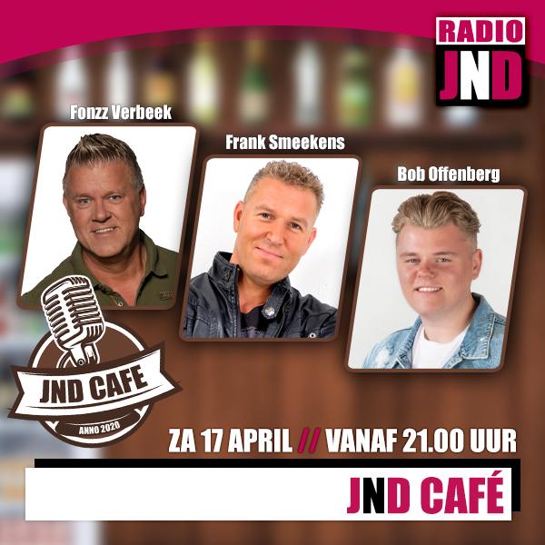 Zaterdag 17 april – JND Café