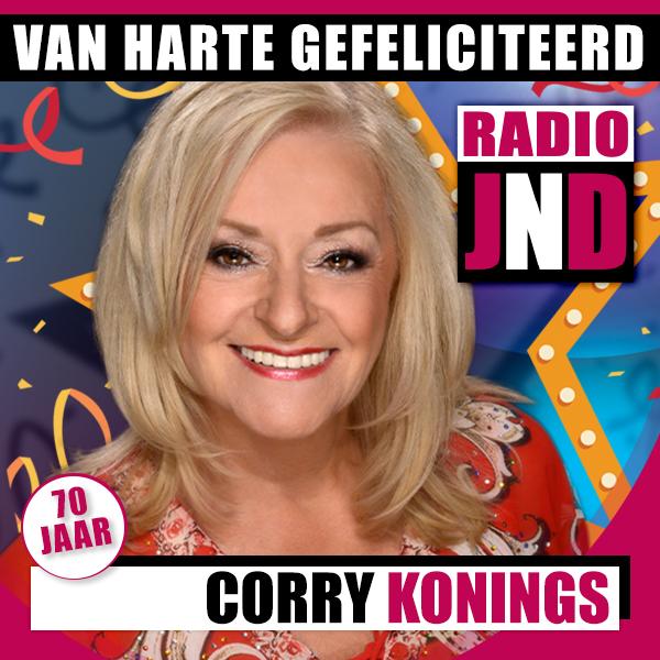 Corry Konings viert vandaag haar 70e verjaardag